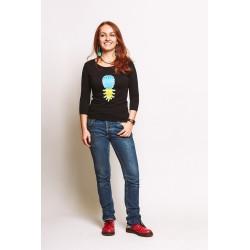 2.Ananas. Koszulka damska z bawełny organicznej